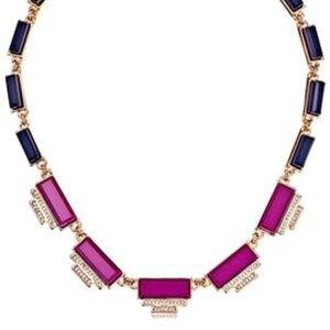 NWT Fossil Rose Goldtone Deco Statement Necklace